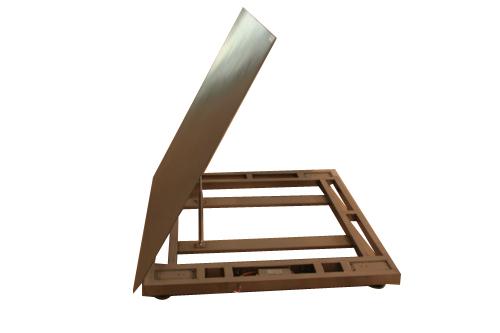 上海常衡提供全不锈钢材质 可翻开方便冲洗 翻盖式电子平台秤