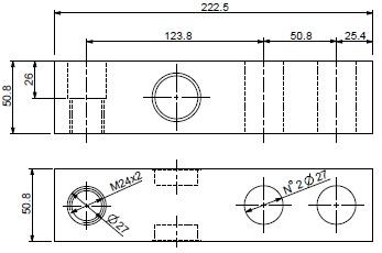 常衡提供 狄纳乔SBX-1K系列单剪切梁传感器 量程10000kg 不锈钢激光焊接