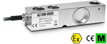 上海常衡  SBX2000-1K C3精度 不锈钢称重传感器 单剪切梁