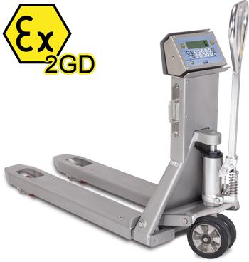 狄纳乔TPWX2GDI 仪表不锈钢外壳 防腐蚀 17个防水按键  防爆不锈钢手动搬运车秤