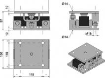 意大利狄纳乔 KDSBN-30T双剪切梁传感器安装模块 304不锈钢材质 可调节高度