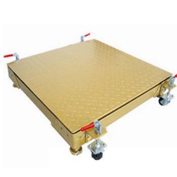 上海常衡提供 移动式电子地磅 安装四个轮子 可随时推行 改变场合