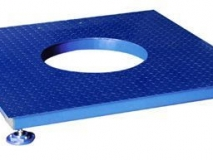 上海常衡 反应釜电子地上衡 平台秤形式 无框架 台面开有圆孔
