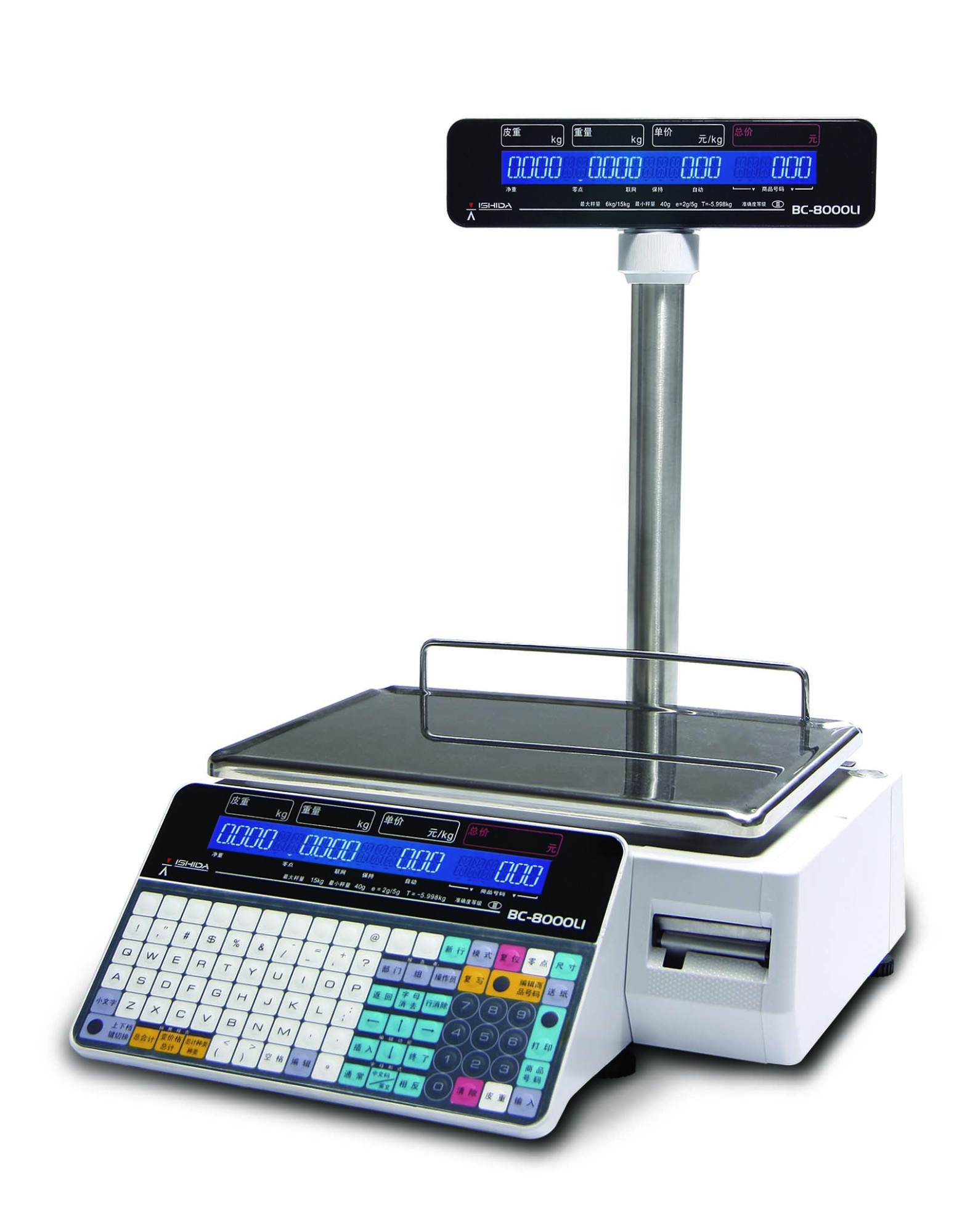 日本石田BC-8000L1工业电子秤新一代条码打印计价秤